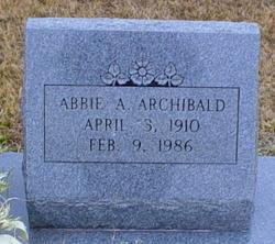 Abbie A. Archibald