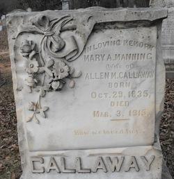 Mary Ann <i>Manning</i> Callaway