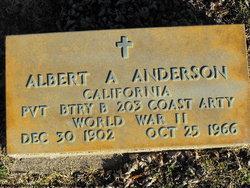 Pvt Albert A Anderson