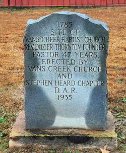 Vans Creek Baptist Church Cemetery
