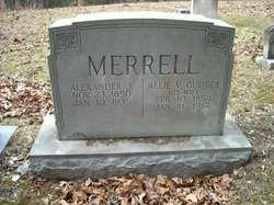 Allie V <i>Gudger</i> Merrell