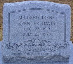 Mildred Irene <i>Spencer</i> Davis