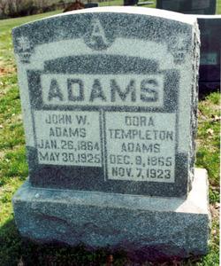 Dora A <i>Templeton</i> Adams