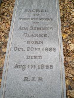 Ada <i>Semmes</i> Clarke