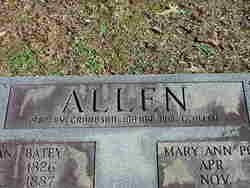 Mary Ann Polly <i>Dockery</i> Allen