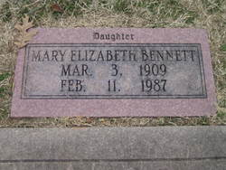 Mary Elizabeth Bennett