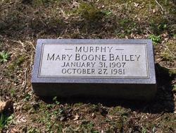 Mary Boone <i>Murphy</i> Bailey