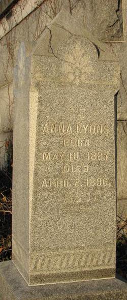 Anna <i>Cohen or Abrahams</i> Lyons