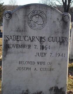 Isabel <i>Carnes</i> Culler