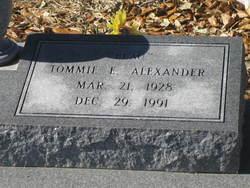 Tommie E Alexander
