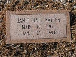 Janie Eloise <i>Hall</i> Batten