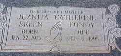 Juanita Catherine <i>Skeen</i> Fondy