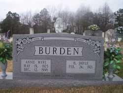 Annie Myrl <i>Hogan</i> Burden