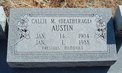 Callie M. <i>Deatherage</i> Austin