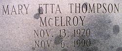 Mary Etta <i>Thompson</i> McElroy