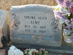 Thelma <i>Allen</i> Aime