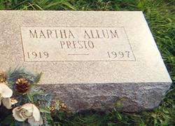 Martha <i>Allum</i> Presto