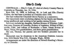 Elta Opal <i>Collins</i> Cody
