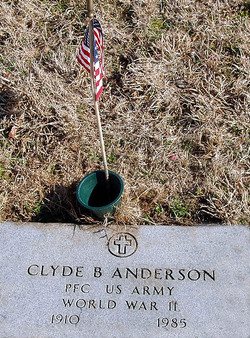 PFC Clyde B Anderson