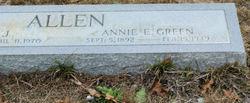 Annie E <i>Green</i> Allen