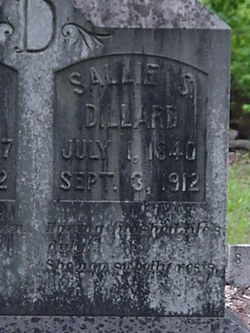 Sarah S Sallie <i>Locklin</i> Dillard