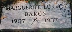 Marguerite Margaret <i>Lukacs</i> Bakos