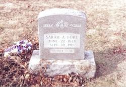 Sarah Ann <i>Jackson</i> Fore