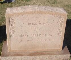 Mary <i>Baker</i> Allen