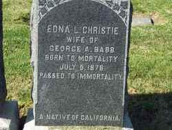 Edna L <i>Christie</i> Babb