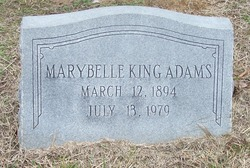 Marybelle <i>King</i> Adams