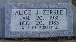 Alice J Zerkle