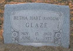 Bertha Hart <i>Ransom</i> Glaze