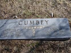 Myrtle Della <i>Butterworth</i> Cumbey