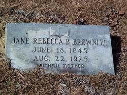 Jane Rebecca <i>Brownlee</i> Brownlee