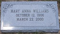 Mary Anna <i>Abbott</i> Williams