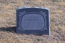 Lillie Marie <i>Canfield</i> Richardson