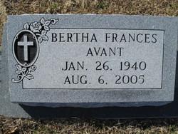 Bertha Frances Avant
