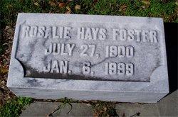 Rosalie <i>Hays</i> Foster