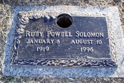 Ruby Vivian <i>Powell</i> Solomon