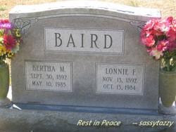 Bertha M Baird