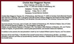 Chelsie Mae <i>Waggoner</i> Haynes