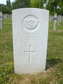 Pvt Arthur Crowe