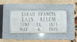 Sarah Frances <i>Lain</i> Allum