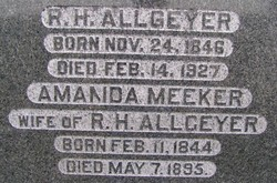 Amanda Mary <i>Meeker</i> Allgeyer