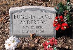 Eugenia <i>DuVal</i> Anderson