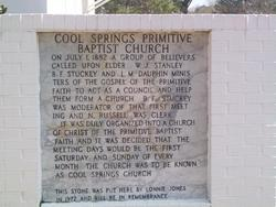 Cool Springs Primitive Baptist Church Cemetery