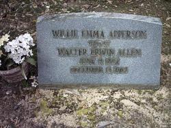 Willie Emma <i>Apperson</i> Allen