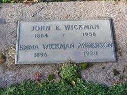 Emma E <i>Wickman</i> Anderson