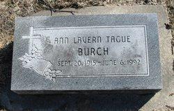 Ann Lavern <i>Tague</i> Burch