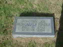 Dorothy Joe <i>Bumgarner</i> Pinder